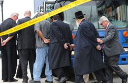 Two state legislators and several rabbis were among more than 40 people arrested yesterday in New Jersey.