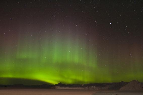Aurora australis in Antarctica