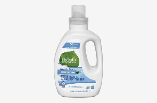Seventh Generation Concentrated Laundry Detergent, Free & Clear Unscented.