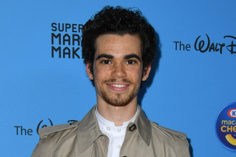 Cameron Boyce on a red carpet.