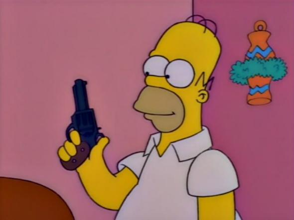 Simpsons gun episode: