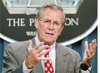 Rumsfeld sees what he wants
