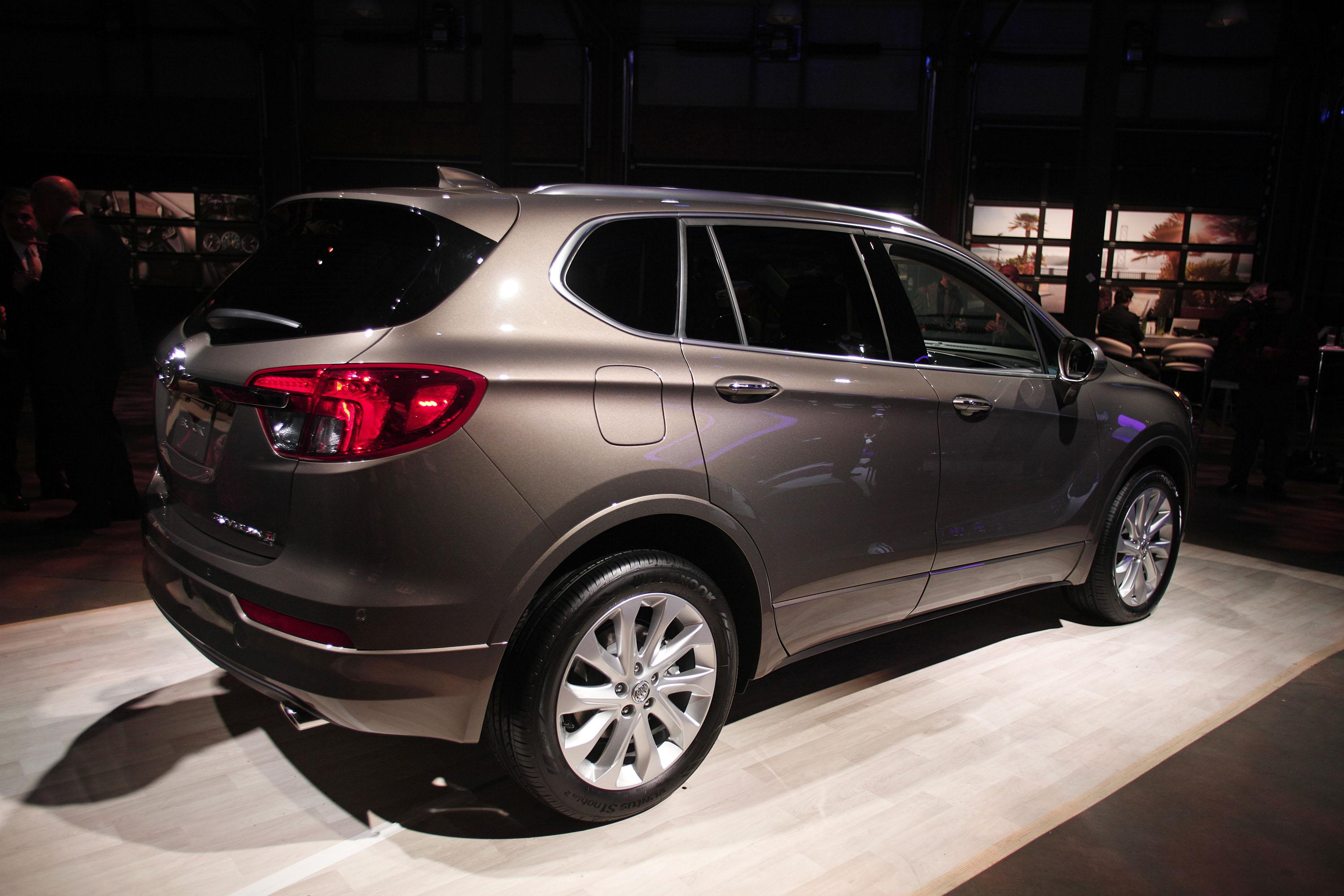 DETROIT, MI - JANUARY 10: The 2016 Buick Envision crossover SUV is shown at a Buick reveal event on the eve of the 2016 North American International Auto Show January 10th, 2016 in Detroit, Michigan. The Envision will be built in China and sold in the United States. The NAIAS runs from January 11th to January 24th and will feature over 750 vehicles and interactive displays.  (Photo by Bill Pugliano/Getty Images)