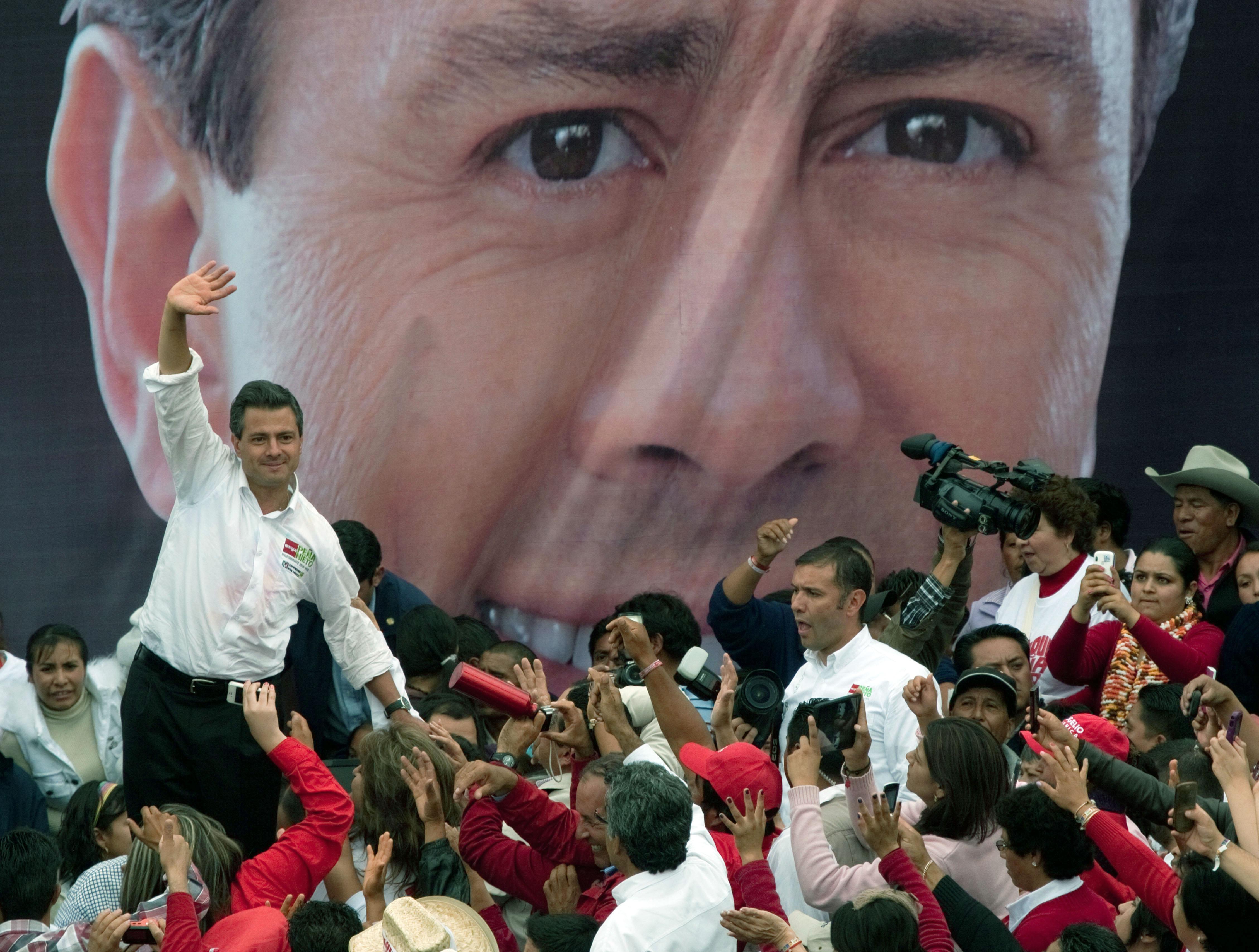 Enrique Peña Nieto, Mexican presidential candidate for the PRI