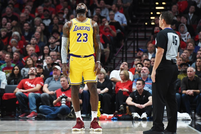 563de44368b6 LeBron James Lakers  The King couldn t propel his new team to a win ...