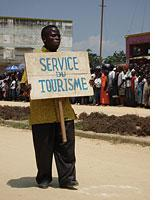 A small contingent from the Tourism Service of Bunia. Click image to expand.
