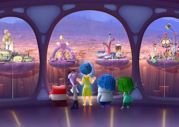 Disgust, Joy, Fear, Sadness, Anger from the movie Inside Out.