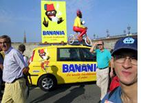 Banania returned to the Tour this year but didn't update its mascot