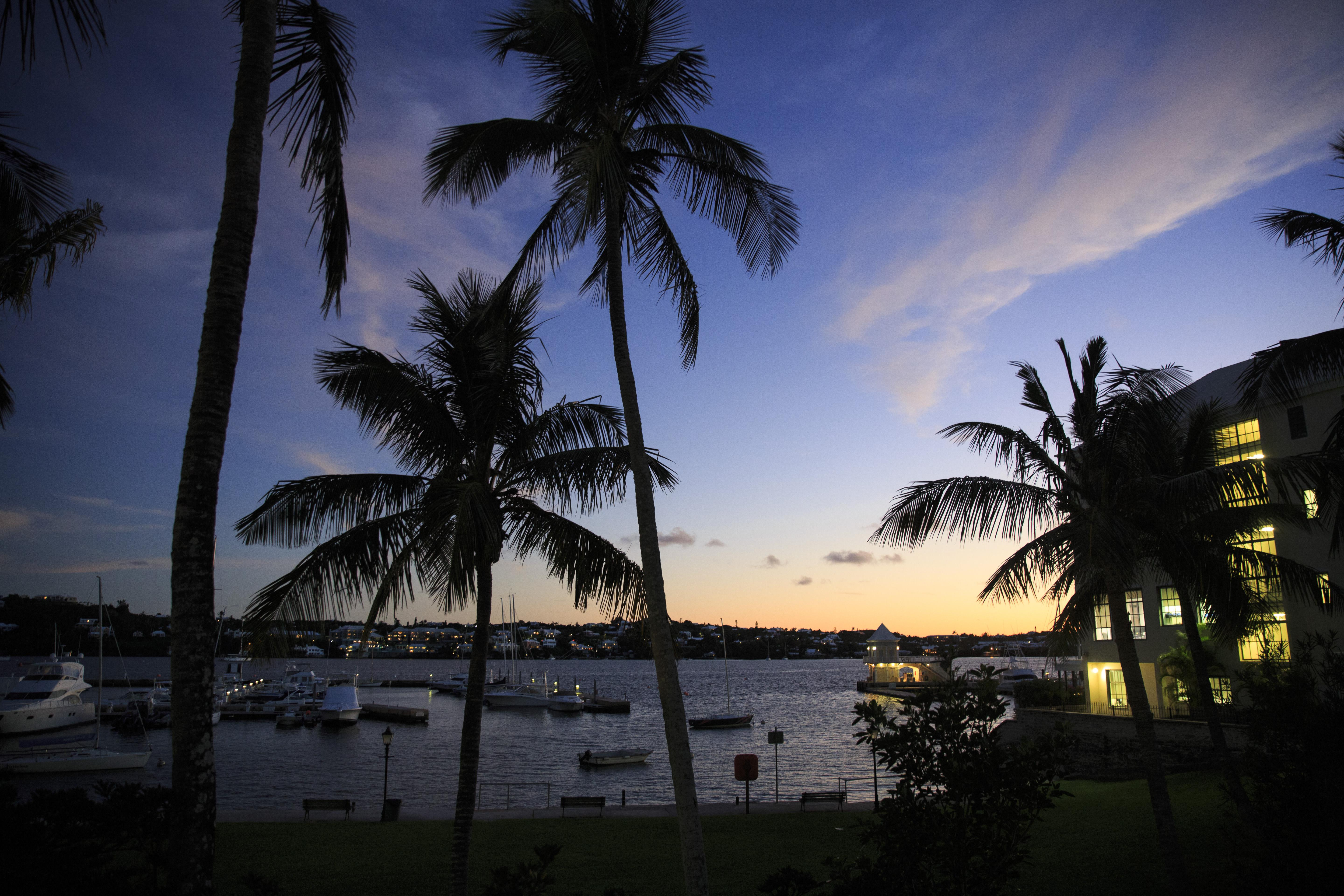HAMILTON, BERMUDA - NOVEMBER 8: A view of Hamilton Harbour at dusk, November 8, 2017 in Hamilton, Bermuda. In a series of leaks made public by the International Consortium of Investigative Journalists, the Paradise Papers shed light on the trillions of dollars that move through offshore tax havens. (Photo by Drew Angerer/Getty Images)