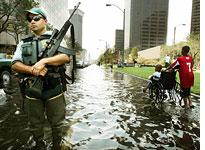 Image result for Image of martial law katrina