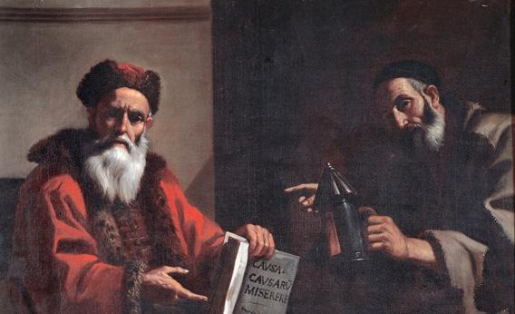 Diogenes and Plato. Oil on canvas, 1649.