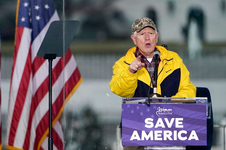 Turns Out Mo Brooks Was Wearing Body Armor to Trump's Very Peaceful Jan. 6 Rally
