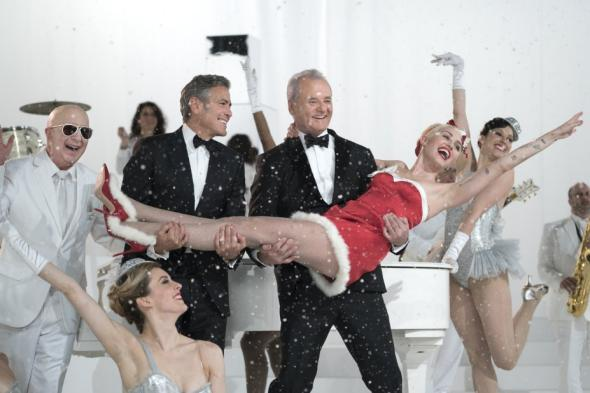 Miley Cyrus and George Clooney guest star in Bill Murray's Christmas special.