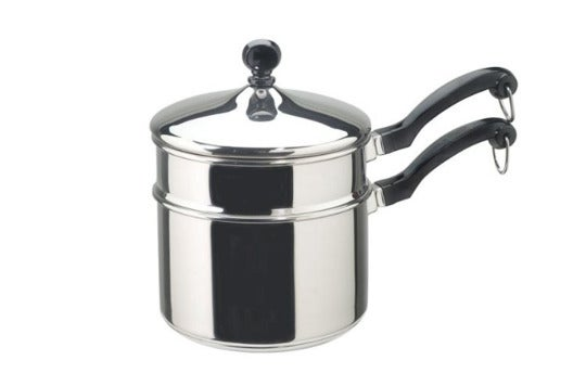 Farberware Classic Stainless Series 2-Quart Covered Double Boiler.