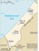 Map of the Gaza Strip. Click image to expand.