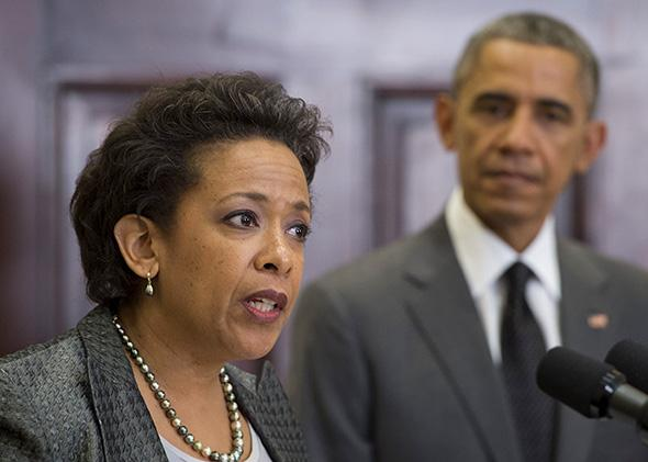Loretta Lynch, nominee for U.S. attorney general, and President Barack Obama