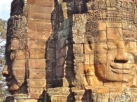 Buddha faces, Bayon Temple, Siem Reap, Cambodia.