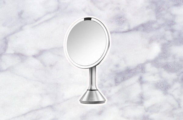 Simplehuman Sensor-Activated Lighted Vanity Mirror.