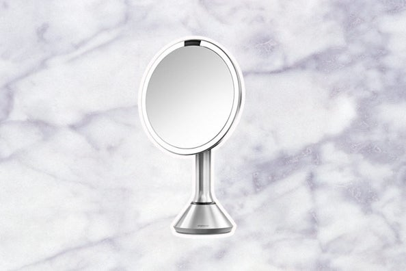 Simplehuman Sensor-Activated Lighted Vanity Mirror.