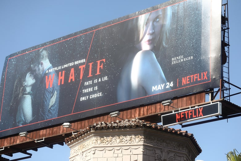 A billboard advertises a Netflix television series on Hollywood Boulevard on May 29, 2019 in Los Angeles, California.