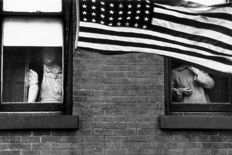 Robert Frank's Parade—Hoboken, New Jersey, 1955.