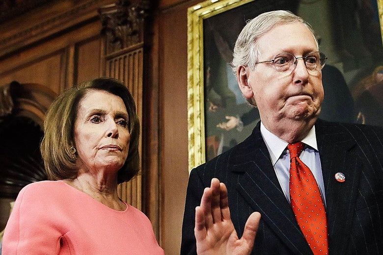Nancy Pelosi and Mitch McConnell.