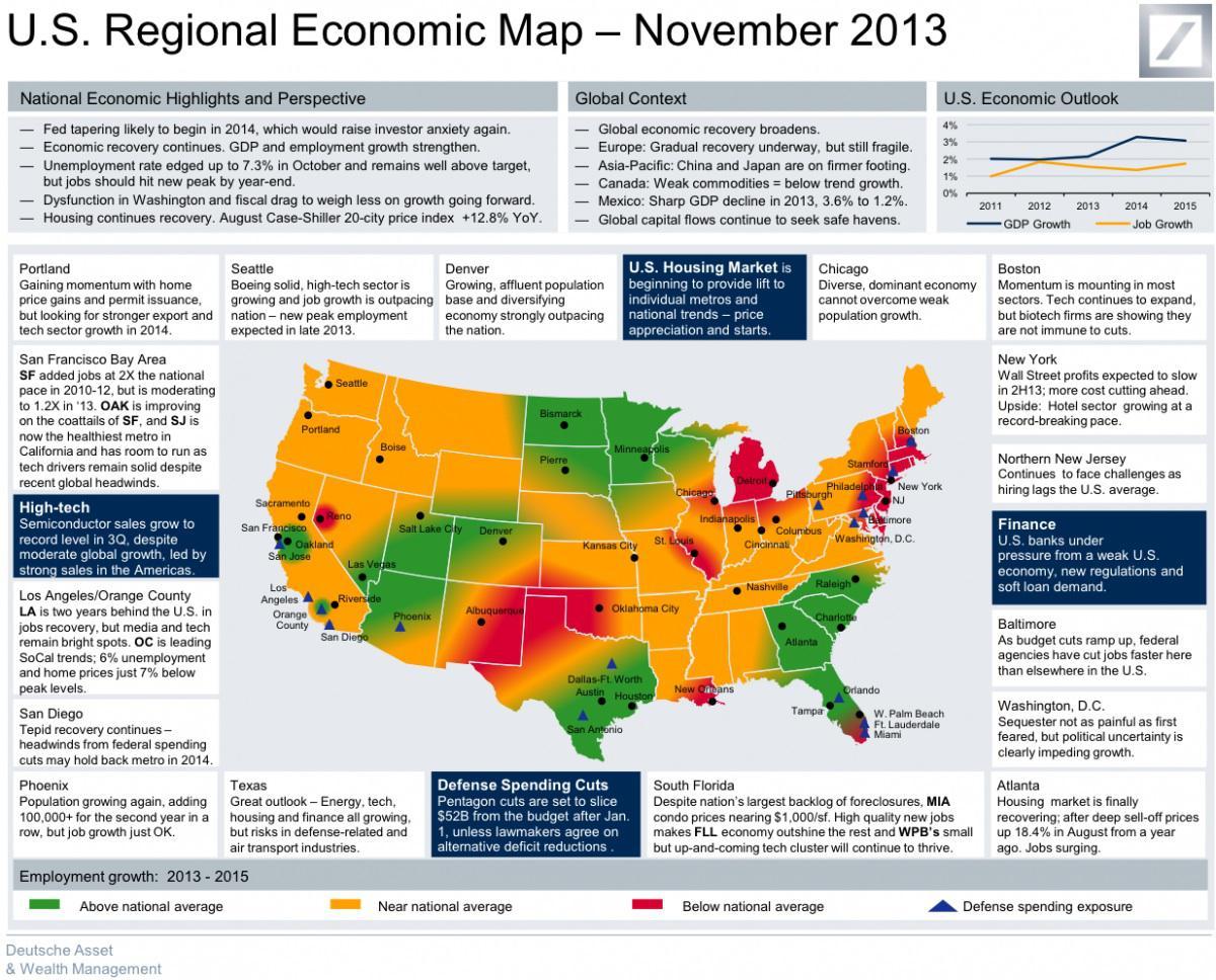 U.S. regional economic map.