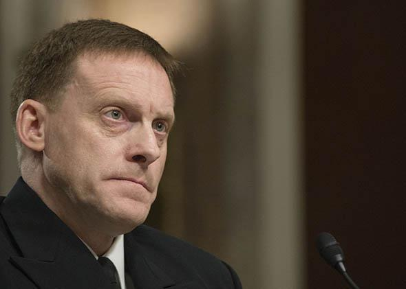 US Navy Vice Admiral Michael Rogers testifies before the Senate Armed Services Committee on his nomination to be admiral and Director, National Security Agency (NSA) and Commander of United States Cyber Command on Capitol Hill in Washington, DC, March 11, 2014.