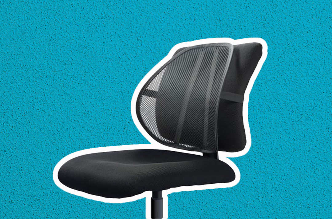 Office chair with mesh Easy Posture back support add-on.