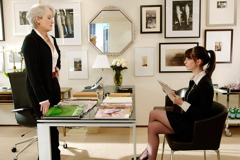 Meryl Streep and Anne Hathaway in a still from the movie.