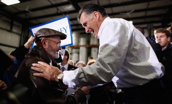 Mitt Romney in Iowa.