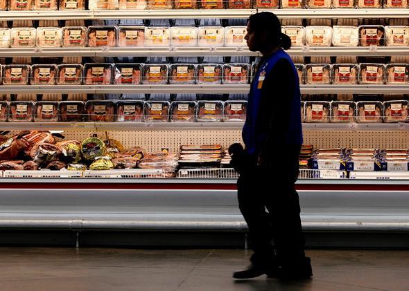 A Walmart employee in a store