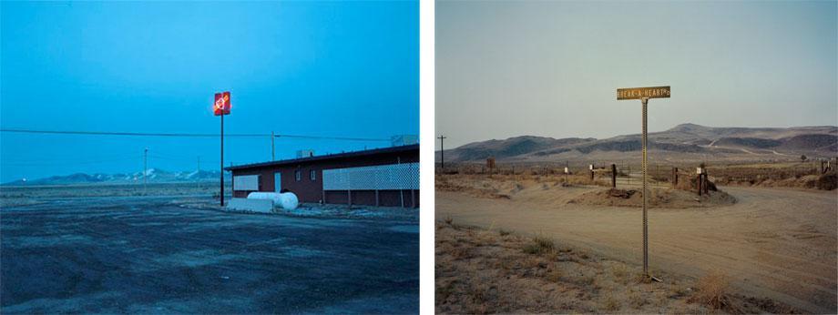 Left: Bella's Hacienda. Right: Break-a- Heart Rd.