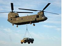 A Chinook at JRTC
