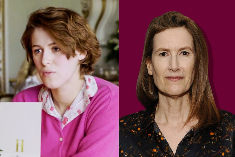 Side-by-side photos of Honor Swinton-Byrne and Joanna Hogg.