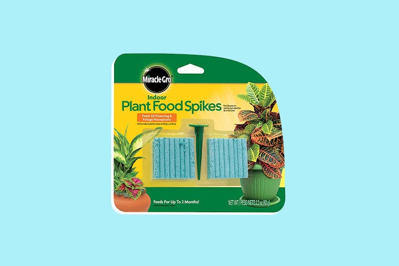 A package of Miracle-Gro Indoor Plant Food Spikes.
