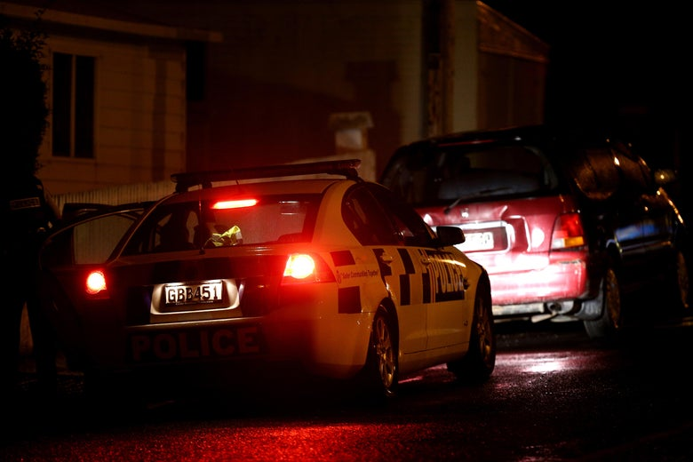 Police investigate a property in Dunedin, New Zealand. Residents have been evacuated off the street as police investigate a property believed to be related to the deadly terror attacks in Christchurch on Friday.