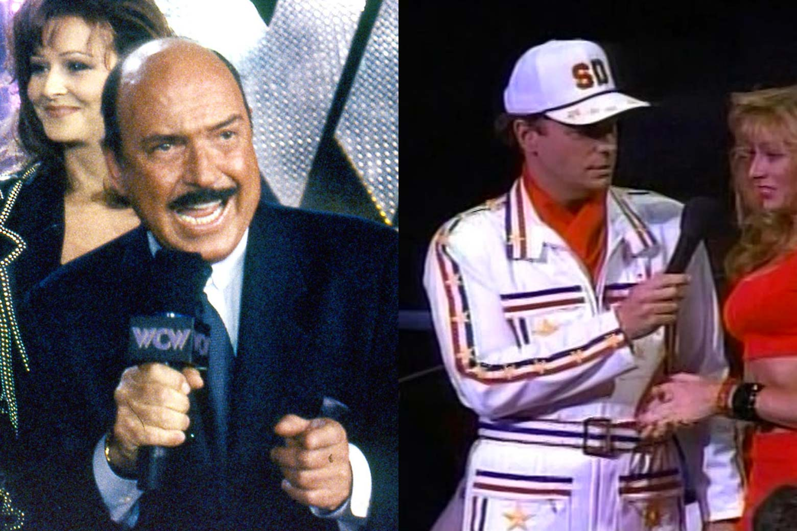 """Mean"" Gene Okerlund; Bob Einstein as Super Dave Osborne."