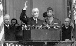President Franklin D. Roosevelt gives his fourth Inaugural speech.