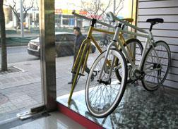 A pair of fixed-gear bikes on sale in Beijing. Click image to expand.