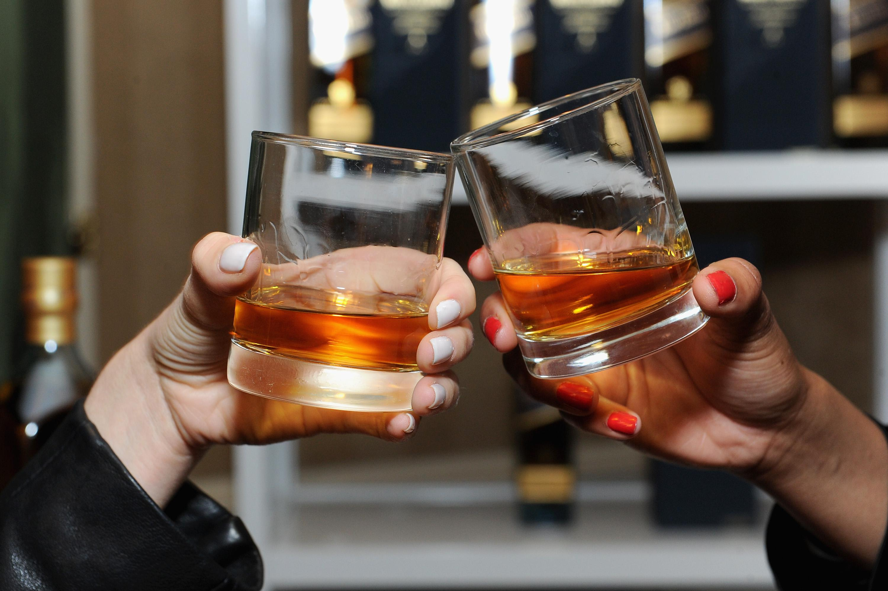Johnny Walker cheers at The 21st Annual Webby Awards with specialty cocktails provided by Johnnie Walker at Cipriani Wall Street on May 15, 2017 in New York City.