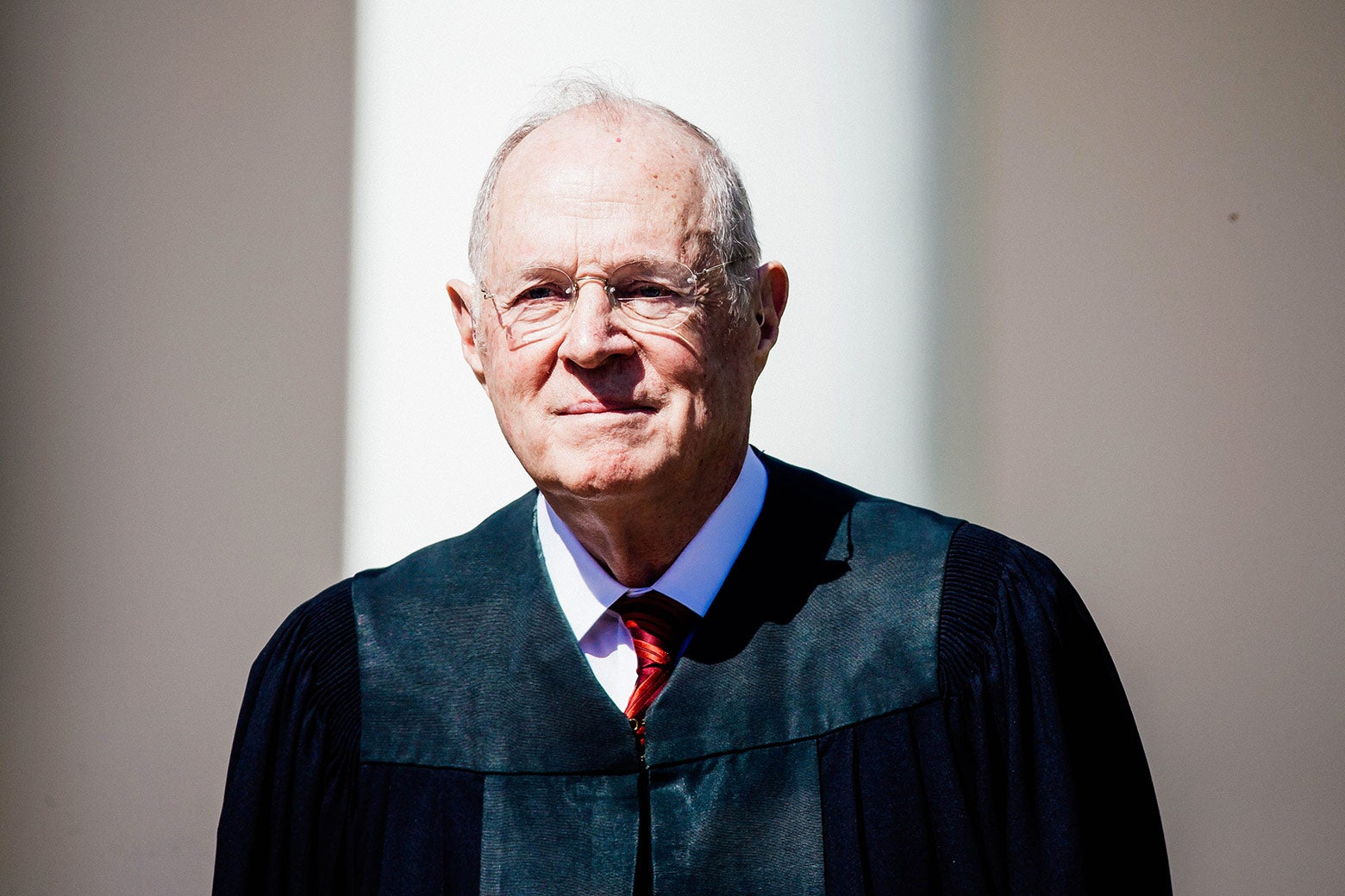Associate Justice Anthony Kennedy is seen during a ceremony in the Rose Garden at the White House on April 10 in Washington.