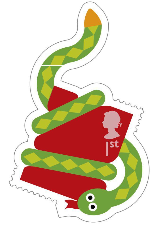 Animail Snake stamp 400%