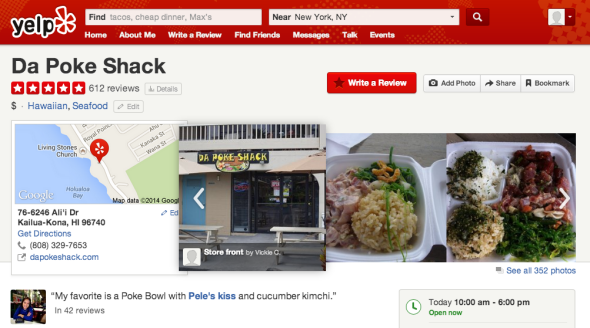 Da Poke Shack may not have a Michelin star, but it gets perfect marks from reviewers on Yelp.com.