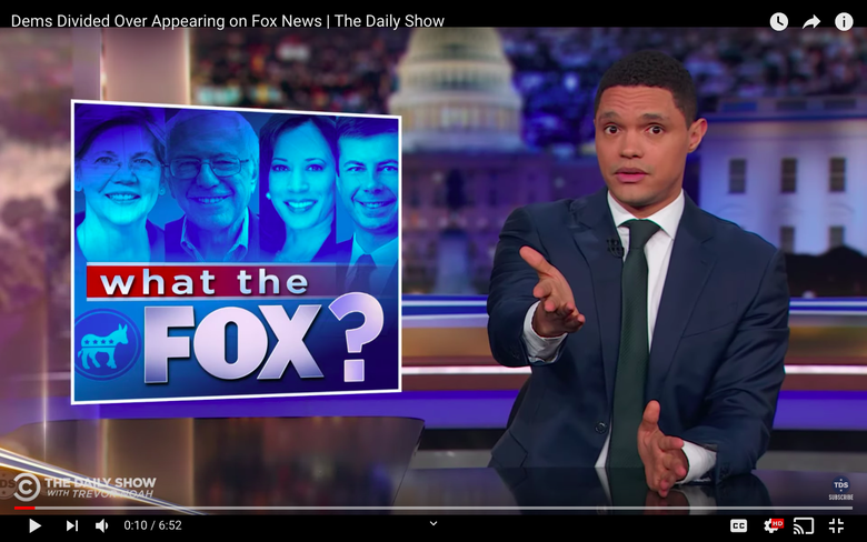 Trevor Noah on What Democratic Candidates Gain by Going on Fox News