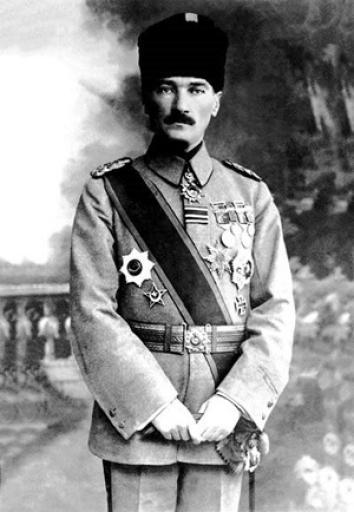 Atatürk, while Commander of the Army (1918).
