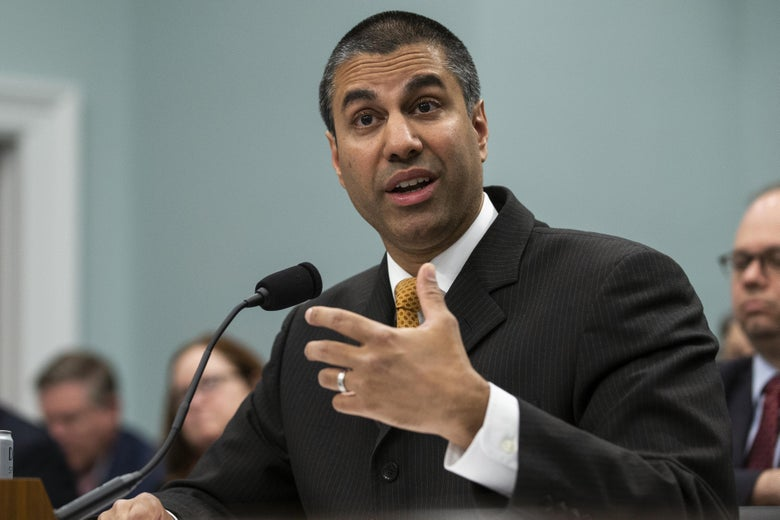 WASHINGTON, DC - APRIL 26: FCC Chairman Ajit Pai testifies before the House Appropriations Committee during a hearing on the 2019FY FCC Budget on Capitol Hill on April 26, 2018 in Washington, DC. (Photo by Alex Edelman/Getty Images)