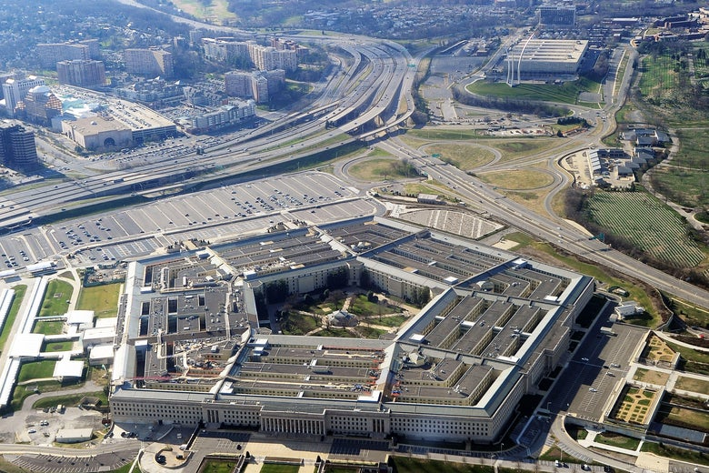 Aerial shot of the Pentagon.