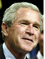 Bush talks in code