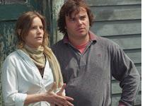 Jennifer Jason Leigh and Jack Black in Margot at the Wedding          Click image to expand.